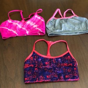 Bundle of 3 spots bras one from PINk